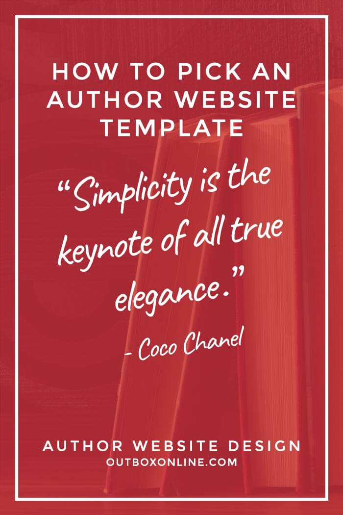 How to Pick an Author Website Template