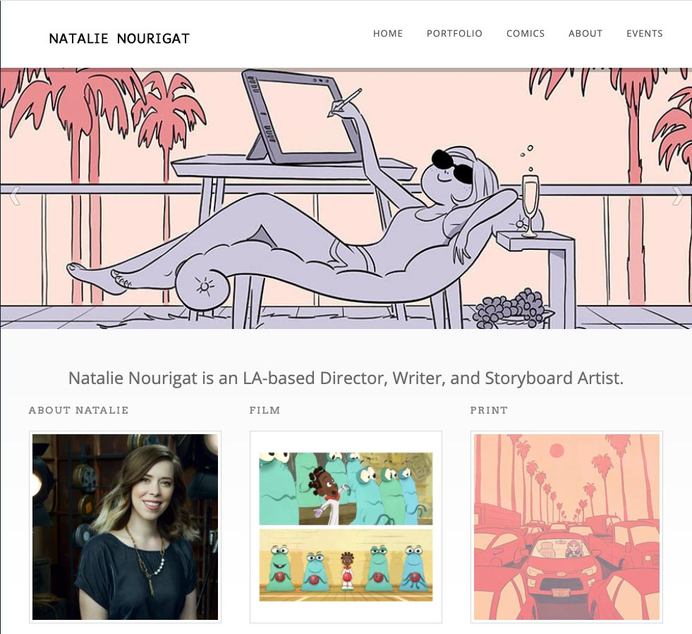 Natalie Nourigat Author Illustrator Website Design