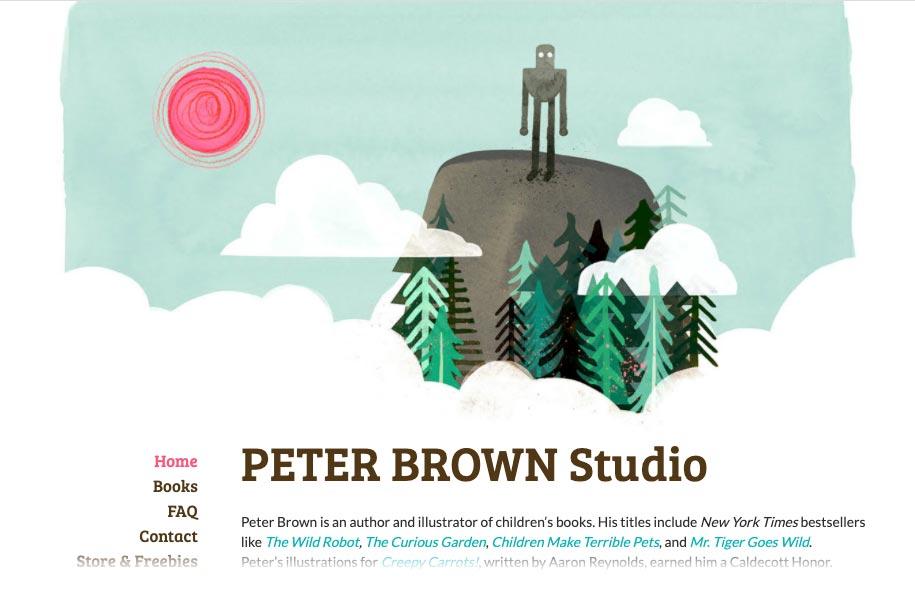 Peter Brown Studio Author Illustrator Website Design