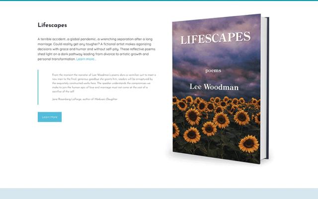 Lee Woodman Poet Author Website Design